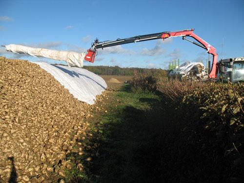 Hecken und Gräben können überbrückt werden (Foto: Südzucker AG)